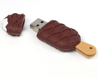 Qline Ice-Cream 8 GB  Pen Drive (Brown)