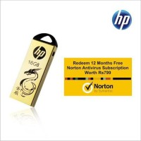 HP V228w With Norton Antivirus 12 Month Subscription 16 GB  Pen Drive (Gold)