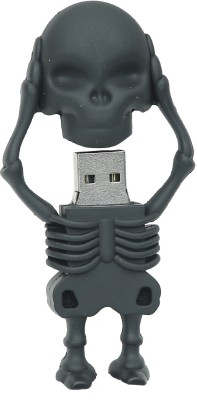 North Moon SKULL USB 16 GB  Pen Drive (Black)