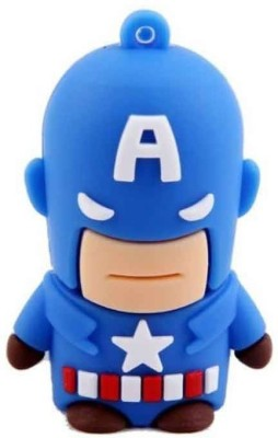 Quace Captain America 8 GB  Pen Drive (Multicolor)