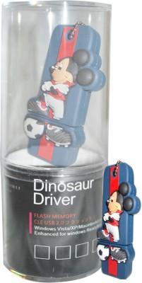 Dinosaur Drivers Mickey Navy Blue 16 GB  Pen Drive (Multicolor)