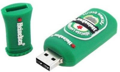 Quace Heineken Beer Bottle 4 GB  Pen Drive (Green)