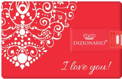 Dizionario Valentine Gifts for Him and Her Couple C 8 GB  Pen Drive (Multicolor)