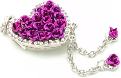 Digitalk Solution Fancy Heart Shape Pendent 16 GB  Pen Drive (Purple)