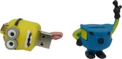 Vibes P-028 16 GB  Pen Drive (Yellow)