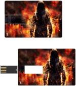 Print Shapes Fire man Credit Card Shape