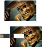 Print Shapes Skull with sigar Credit Card Shape