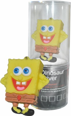 Dinosaur Drivers Sponge Bob 16 GB  Pen Drive (Yellow)