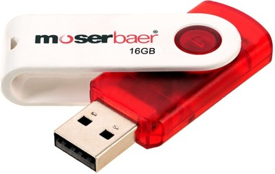 Moserbaer Swivel 16 GB Pen Drive (Multicolor)
