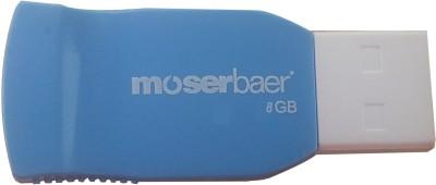 Moserbaer Racer 8  GB Pen Drive Blue & White available at Flipkart for Rs.360
