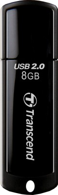 Transcend JetFlash 350 8 GB Pen Drive (Black)