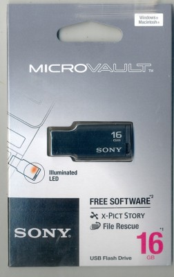 Sony Micro Vault 16 GB Pen Drive (Black)