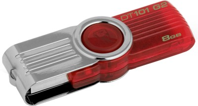 Kingston Data Traveler 101 G2 8 GB Utility Pendrive (Red)