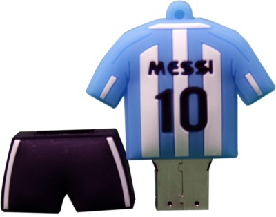 The Fappy Store Lionel Messi Hot Plug And Play 4 GB  Pen Drive (Blue)