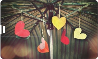 Via Flowers Llp Heartful VC89419 8 GB  Pen Drive (Multicolor)