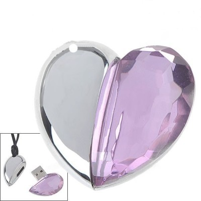 Microware Crystal Heart 64 GB  Pen Drive (Multicolor)