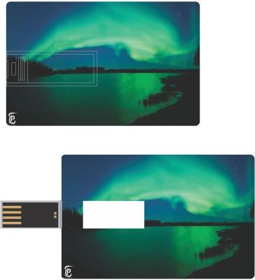 Print Shapes Aurora Green Credit Card Shape