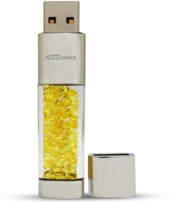 Portronics Crystal Bar 16 GB  Pen Drive (Yellow)