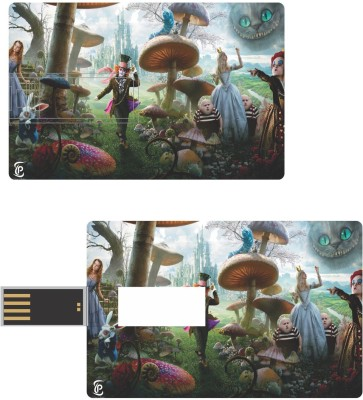 Print Shapes Alice in wonderland Credit Card Shape