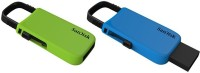 SanDisk Cruser U - Combo Of 2 64 GB  Pen Drive (Blue, Green)