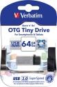 Verbatim Store'n' Go OTG Tiny USB 3.0 Drive 64  Pen Drive - Silver