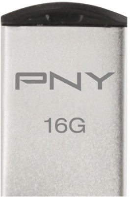 PNY USB Flash Drive Micro M1 Attache16GB 16 GB  Pen Drive (Silver)