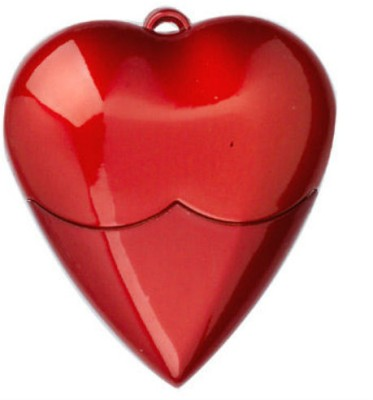 BrandAxis Heart Shape 4 GB  Pen Drive (Red)