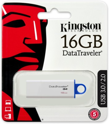 Kingston DTIG4/16 GB 16 GB Pen Drive (White & Blue)