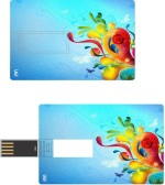 Print Shapes Colourfull abstract with butterflies Credit Card Shape