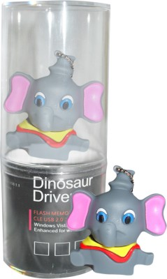 Dinosaur Drivers God Ganesha 8 GB  Pen Drive (Multicolor)