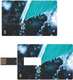 Print Shapes Rain drops over umbrella Credit Card Shape