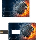 Print Shapes Burning & water speedometer Credit Card Shape