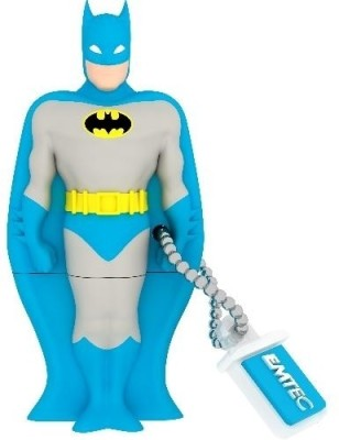 EMTEC Super Heroes 3D Batman 8 GB  Pen Drive (Blue)