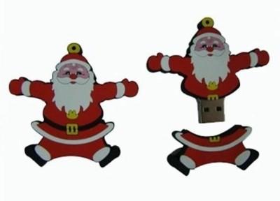 Microware Santa Claus Shape Fancy 16 GB Pen Drive (Red & White)