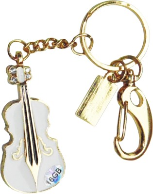 Sam Guitar Fancy Key Chain 16 GB  Pen Drive (White)