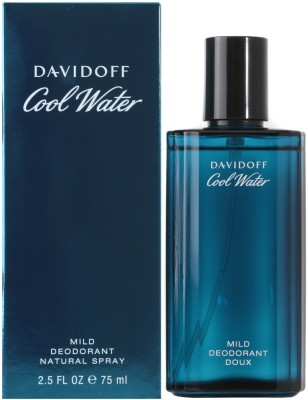 Davidoff Cool Water Deodorant Natural Spray - 75 ml For Men