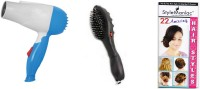 Style Maniac Hair Dryer And Head Massager Brush With 22 Amazing Hairstyle Booklet Personal Care Appliance Combo (Hair Dryer, Hair Styler)