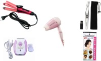 Style Maniac 2 In 1 Hair Straightener Cum Curler , Dryer , Epilator And Eyebrow / Ear / Nose Hair-remover Personal Care Appliance Combo (Hair Straightener, Hair Dryer, Epilator, Face Epilator)