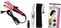 Style Maniac 2 In 1 Professional Hair Straightener Cum Curler And Eyebrow / Nose / Ear Hair-Remover With Hairstyles Booklet Personal Care Appliance Combo (Hair Straightener, Face Epilator)