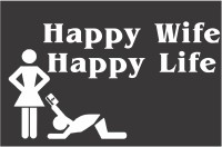 Funcart Happy Wife Happy Life Photo Booth Board (Party)
