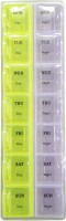 Evergreen 1 Week Day And Night Manual Pill Box (Multicolor)