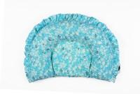 Nahshonbaby Flower Print Bed/Sleeping Pillow (Pack Of1, Blue)