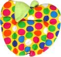 U & ME Mustard Seeds Apple Shape Pillow Polka Dots Pillow