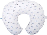 Mycey Board The Blue Plane Feeding/Nursing Pillow (Pack Of 1, White & Blue)