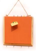 Ivei With Keyhook Pin Board Bulletin Board (Orange)
