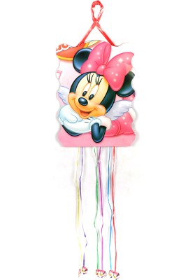 Funcart Minnie Mouse Pull String Pinata (Pink, Pack Of 1)