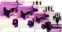 Superware Bunch Of Purple Printed Melamine Tray Set (Purple, White, Pack Of 3)