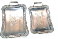 Lacuzini 2 Pcs Ethnic Embossed Copper Tray Set (Brown, Pack Of 2)