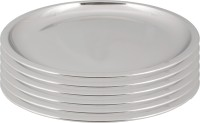 Ndura China Plate Dx 11 Solid Stainless Steel Plate Set (Silver, Pack Of 6)
