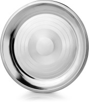 Mosaic Pav Bhaji Tray Solid Stainless Steel Plate (Silver, Pack Of 6)